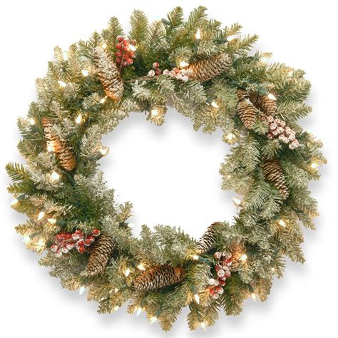 Buy Now 24 Dunhill Fir Wreath With Clear Lights Order Now .